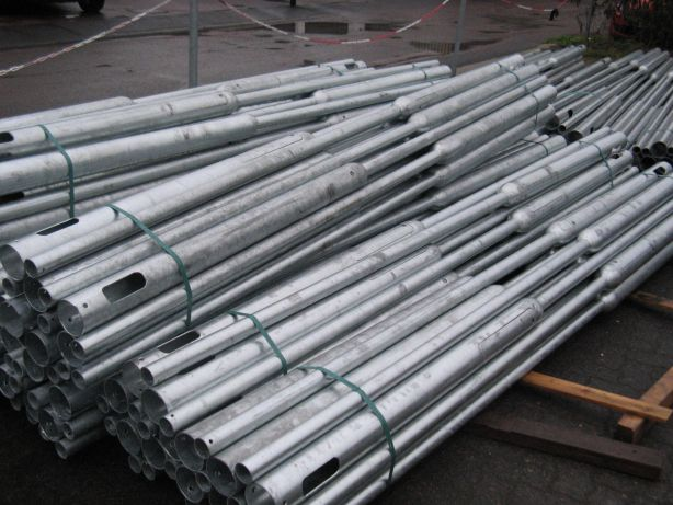 Steel poles and light poles