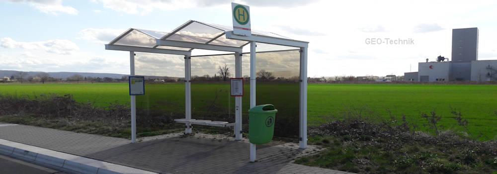 Solar lighting for bus stop