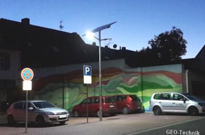 Parkplatzbeleuchtung Solar, Carport