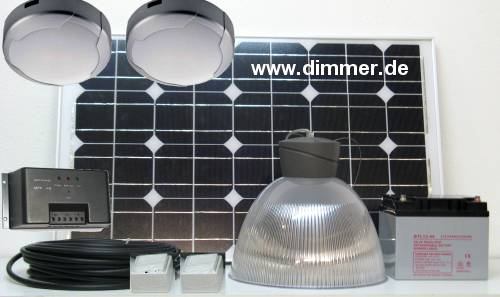 Solar lighting for garden shed, stable, weekend house