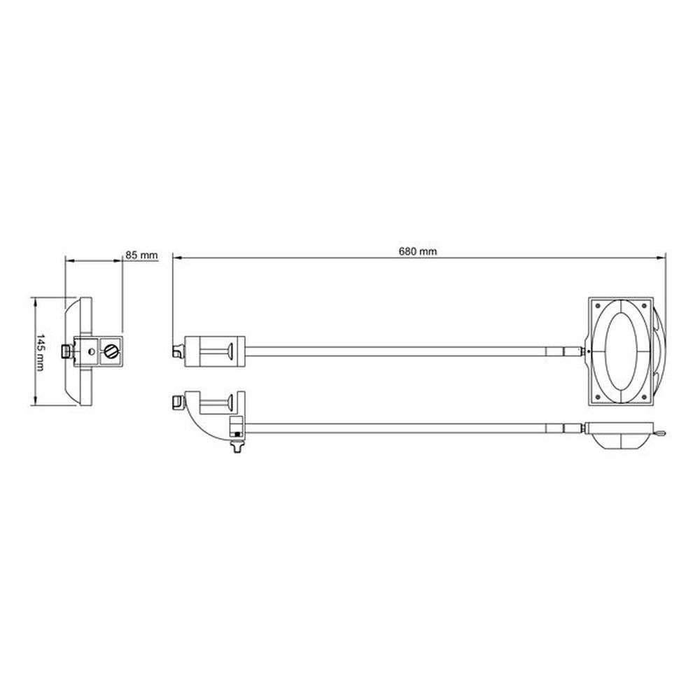 LED Auslegestrahler Messestrahler 50cm Arm