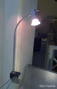 LED Messestrahler 515 Klemmstrahler mit Ausleger