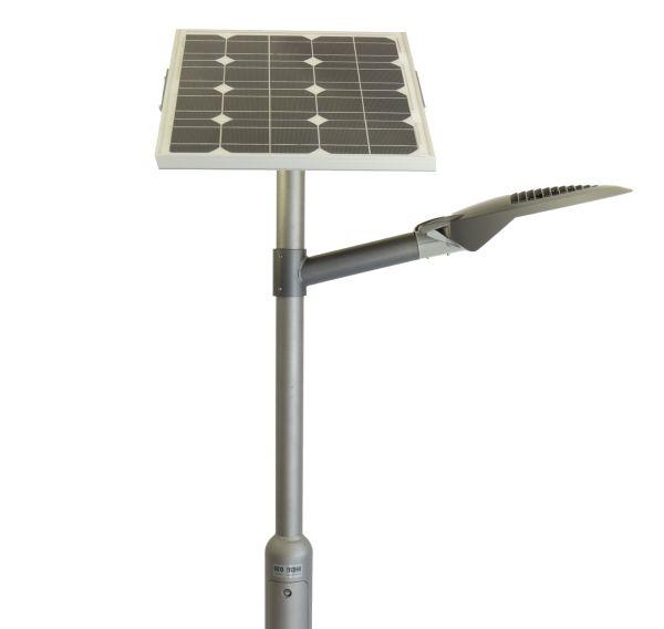 LED Solarleuchte Radwegbeleuchtung 50W Lithium 4m